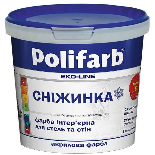 краска для стен и потолков POLIFARB «Снежинка»
