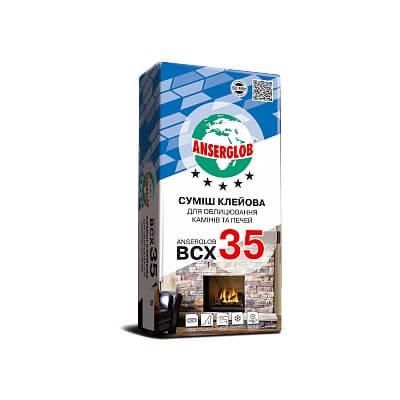Клей для облицовки каминов и печей ANSERGLOB BCX 35