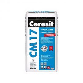 Эластичная клеящая смесь для плитки CERESIT CM 17 SUPER FLEXIBLE