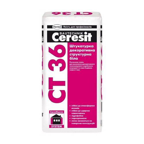 Структурная декоративная штукатурка CERESIT CT 36