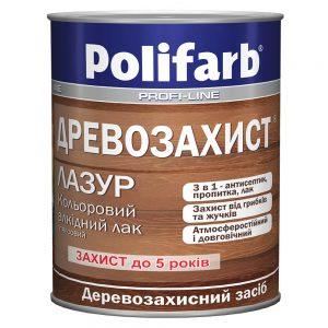 Древозахист лазурь - цветной лак для дерева POLIFARB