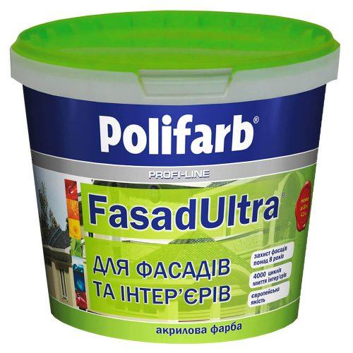 Белая водоэмульсионная краска POLIFARB «FasadUltra»
