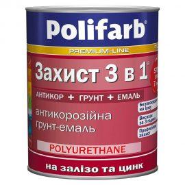 Антикоррозионная грунт-эмаль Захист «3в1» 8 цветов POLIFARB