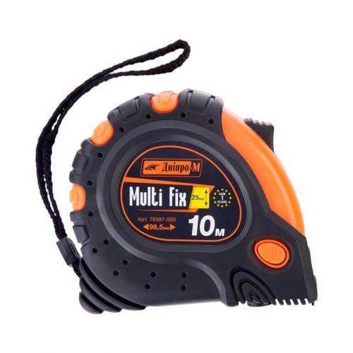 Строительная рулетка Дніпро-М Multi Fix 3м, 5м, 7,5м, 10м