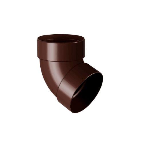 Колено трубы двухмуфтовое 67° RAINWAY коричневое