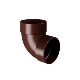Колено трубы двухмуфтовое 87° RAINWAY коричневое