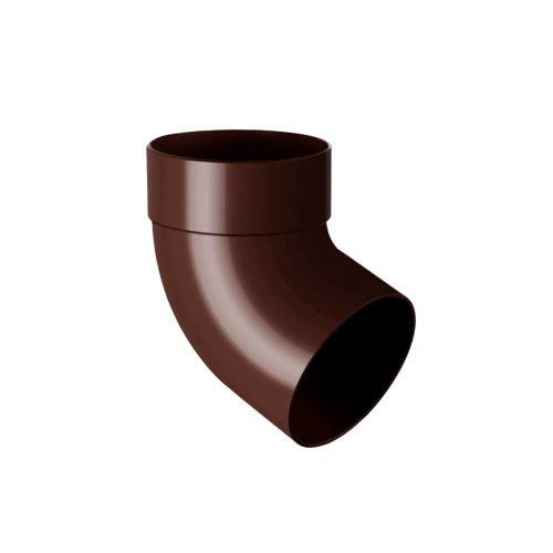 Колено трубы одномуфтовое 67° RAINWAY коричневое