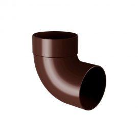 Колено трубы одномуфтовое 87° RAINWAY коричневое