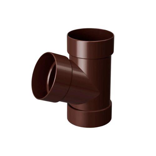 Тройник водосточный 67° RAINWAY коричневый