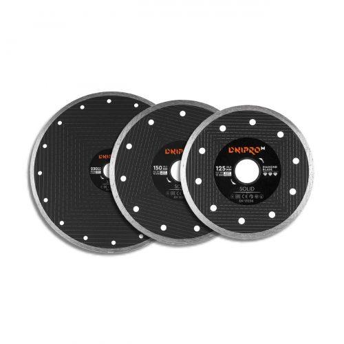 Алмазные диски для УШМ и плиткореза Dnipro-M Solid