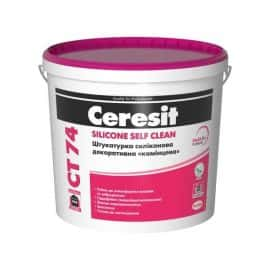 «Камешковая» декоративная силиконовая штукатурка CERESIT CT 74